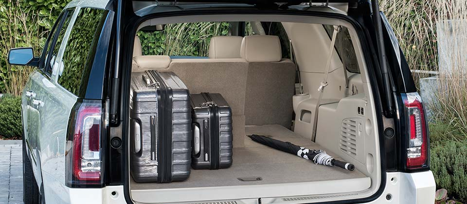The Yukon Denali Full Size Luxury Suv Cargo Management System Located Behind Third Row Seats